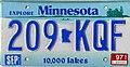 Minnesota license plate, 1997 - 209-KQF.jpg