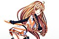 Mirai Suenaga with Solar Marine uniform and Millenium Blade by Kenneos 20120316.jpg