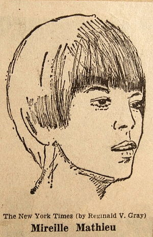 Mireille Mathieu - Portrait for the New York Times by Reginald Gray, 1966