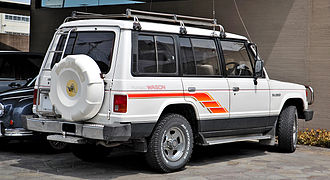 Mitsubishi Pajero - Mitsubishi Pajero rear