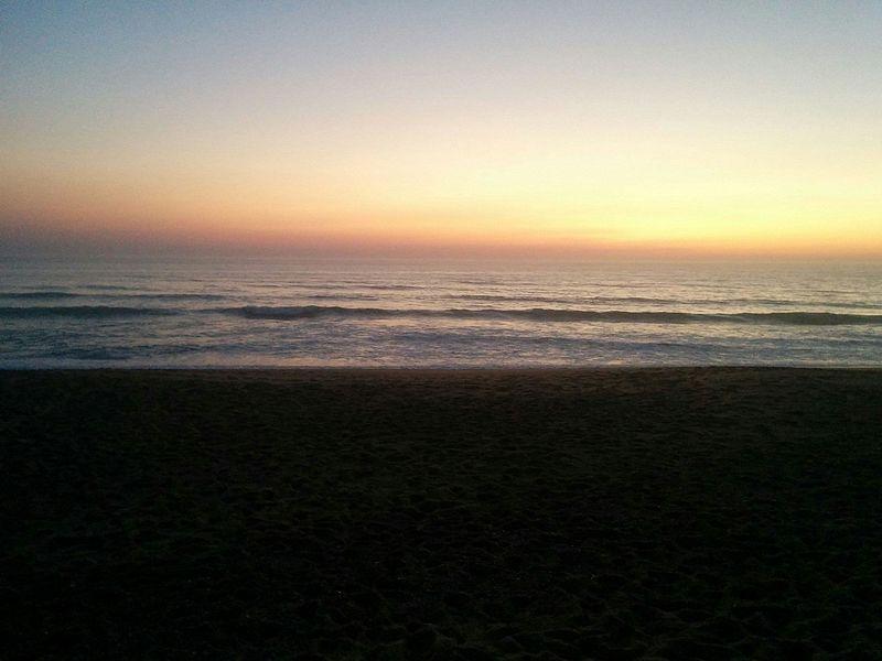 Coucher de soleil sur la plage de Cap-Breton