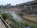 Moei Fluss bei Mae Sot mit Friendship Bridge CIMG1193.JPG
