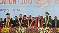 Mohd. Hamid Ansari at the Annual Convocation of the University of Lucknow, in Lucknow, Uttar Pradesh Uttar Pradesh. The Governor of Uttar Pradesh, Shri B.L. Joshi, the Chief Minister of Uttar Pradesh.jpg