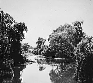 Acton, Australian Capital Territory - Molonglo River at Acton in 1920