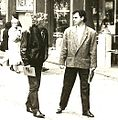 Momo Kapor i Dejan Stojanović, Beograd, 1990.jpg