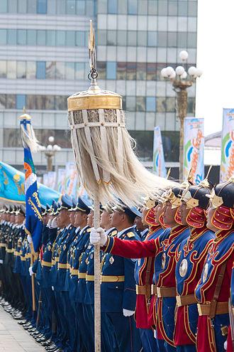 Tug Banner - A banner flown in Sükhbaatar Square, Ulaanbaatar