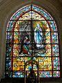 Montagny-Sainte-Félicité (60), église Sainte-Félicité, bas-côté sud, vitrail du chevet - Notre-Dame de Lourdes.JPG