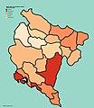 Montenegrin municipalities population density (2011).jpg