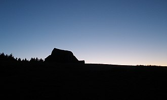 Montpelier Hill - The Hell Fire Club, just before dark