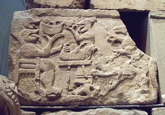 Iberians - Iberian relief, Mausoleum of Pozo Moro, 6th century BC, showing Hittite influence