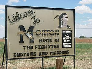 Morton High School (Texas) - Image: Morton Texas Sign