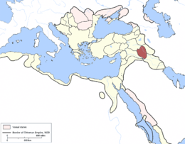 Mosul Eyalet, Ottoman Empire (1609).png