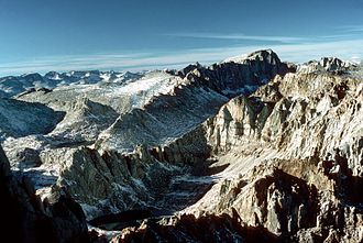 Mount Whitney - Mount Whitney as seen from Mount Langley
