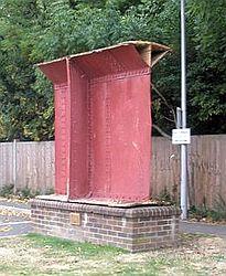 Mounted girder at Brunel University, cropped.jpg