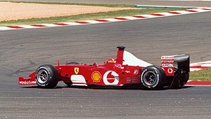 2002 French Grand Prix - This race saw Michael Schumacher clinch his fifth title, equaling Juan Manuel Fangio's 45-year-old record.
