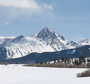 Mount Sneffels - View of Mount Sneffels from the north
