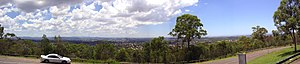 Mount Gravatt, Queensland - Panorama from Mount Gravatt, looking north to Brisbane