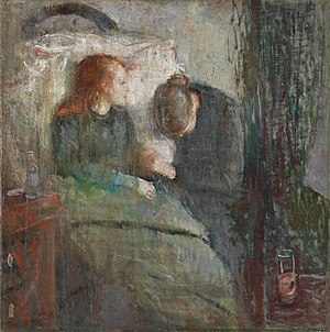 The Sick Child - Edvard Munch, The Sick Child, 1885–86. The original version. Nasjonalgalleriet, Oslo.