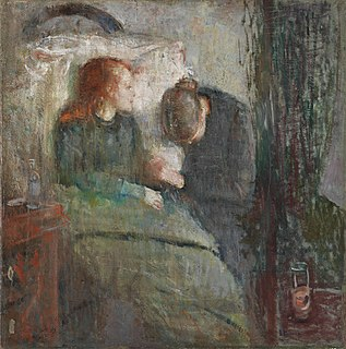 <i>The Sick Child</i> painting series by Edvard Munch