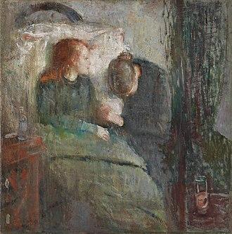 The Sick Child - Edvard Munch, The Sick Child, 1885–86. The original version. Nasjonalgalleriet, Oslo.