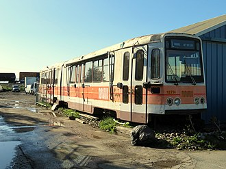 San Francisco Municipal Railway fleet - Ex-Muni 1271 in scrapyard (2018)
