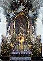 Murnau, Nikolauskirche, Altar im Weihnachtsschmuck, 1.jpeg