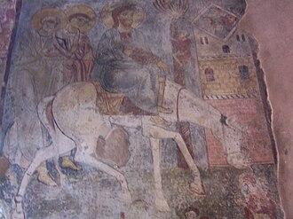 Myriokefala - Fresco within the church