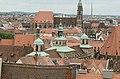 Nürnberg, Blick von der Burg auf St. Lorenz und Rathaus, 002.jpg