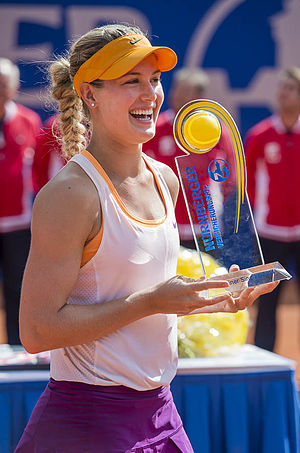 Eugenie Bouchard - Bouchard during the victory ceremony in Nürnberg