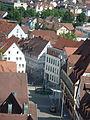 Nürtingen Blick vom Turm zum Marktplatz.JPG