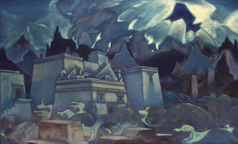 Файл:N.Roerich 'Gibel Atlantidy'.jpg