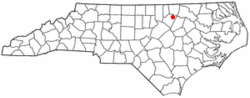 Location of Centerville, North Carolina