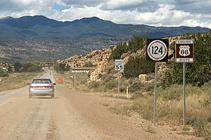 U.S. Route 66 in New Mexico - Old Route 66 westbound near I-40 exit 104.