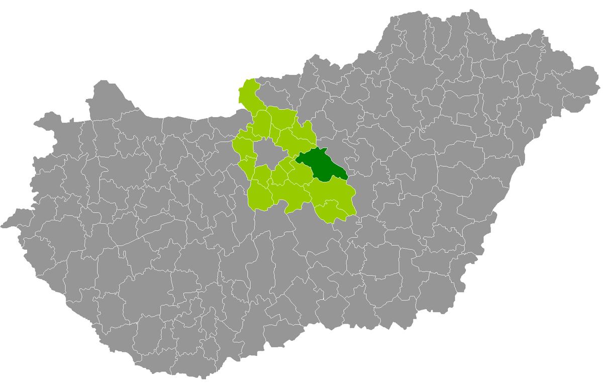 magyarország térkép nagykáta Nagykátai járás – Wikipédia magyarország térkép nagykáta