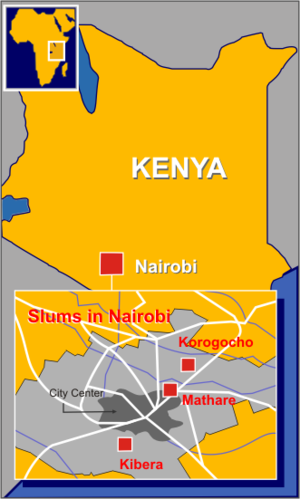 Major slums of Nairobi