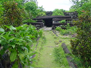 Isokelekel - Nan Madol interior entrance