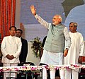 Narendra Modi at the dedication ceremony of the Rourkela Steel Plant, in Odisha on April 01, 2015. The Governor of Odisha, Shri S.C. Jamir and the Chief Minister of Odisha, Shri Naveen Patnaik are also seen.jpg