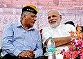 Narendra Modi with Vijay Kumar Singh in Rewari, haryana.jpg