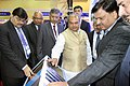 Narendra Singh Tomar visiting after inaugurating the international exhibition and conference on Steel Industry 'India Steel 2015', in Mumbai. The Secretary, Ministry of Steel.jpg