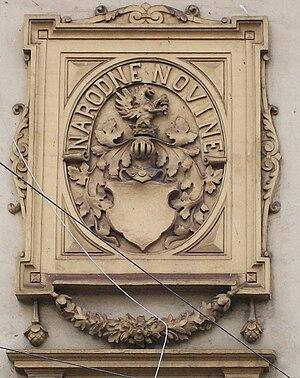 Narodne novine - A relief of Narodne novine in Frankopanska street in Zagreb