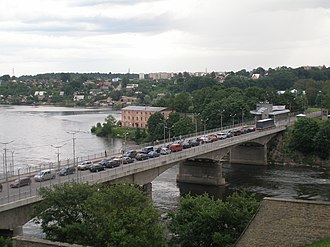 Narva River -  Tallinn-St. Petersburg highway bridge
