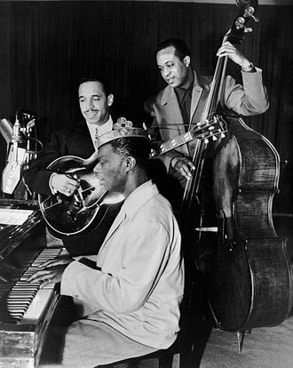 Nat King Cole - King Cole Trio Time on NBC in 1947, with Cole, Oscar Moore and Johnny Miller