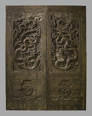 Nam Định Province - Carved wooden doors from the Phổ Minh pagoda, Nam Định province (13th-14th century)