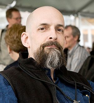 English: U.S. novelist Neal Stephenson at Scie...