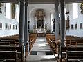 Neckargemünd - Dilsberg - St. Bartholomäus - Blick vom Eingang zum Altar.JPG