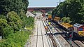 Network Rail workers reinstating track on Filton Bank, Bristol 2018.jpg