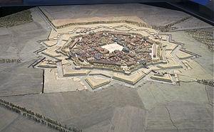 Neuf-Brisach - Image: Neuf Brisach plan relief 1706