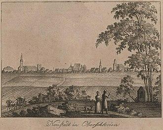 Prudnik - View of Prudnik (Neustadt) from 1819