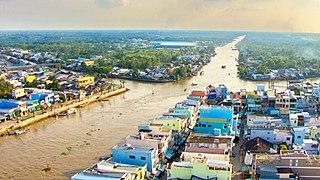 Ngã Bảy City in Mekong Delta, Vietnam