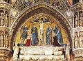 Niccolò Semitecolo - Crocifissione, Monumento funebre del doge Michele Morosini, 1382 - Basilica dei Santi Giovanni e Paolo, Venezia.jpg